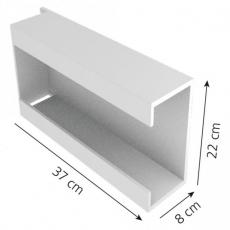 Seinäteline käsinerasioille 3-os metalli