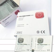 Injektiopyyhe 3x6cm 200kpl