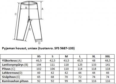 Yöpuvun housut Unisex SFS 5687