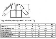 Yöpuvun takki Unisex SFS 5686