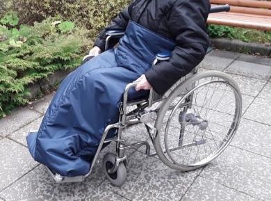 Lämpöpussi pyörätuoli vetoketjulla